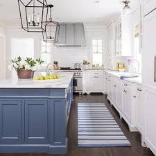kitchen island different color than cabinets why blue and white will never go out of style beautiful kitchen