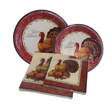 thanksgiving plates and napkins 12ct dinner plates
