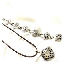 bracelet necklace images Lia sophia jewelry lia sophia silver scroll necklace bracelet jpg