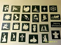 Amazon Uk Christmas Window Decorations by 20 X Mixed Christmas Stencils For Window Decoration Snow