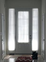 Small Tension Rods For Sidelights by Sheers Front Door Glass Sidelight Windows Consistent Window