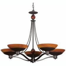 Triarch International Chandelier Triarch International Halogen Vi 5 Light Brushed Steel Chandelier