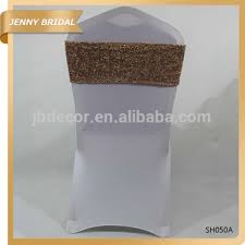 Chair Sashes Wedding Sh050 Best Quality Champagne Gold Custom Sequins Wedding Chair