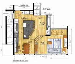 work triangle dimensions floor plans rustic open design layout