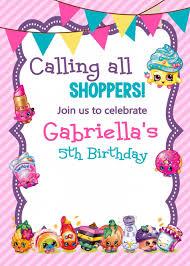 Invite Birthday Card Adorable Shopkins Printable Invitations Via Etsy Shopkins