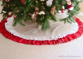 easy to sew ruffled tree skirt