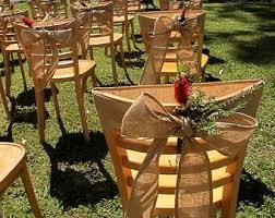 Burlap Chair Sash Burlap Chair Sash Rustic Wedding Decoration Burlap Chair