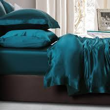 teal silk bed linen from the finest mulberry silk