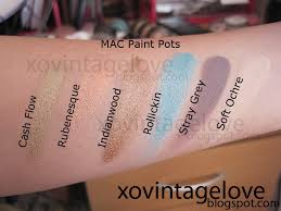 swatches mac paint pots beauty snippets