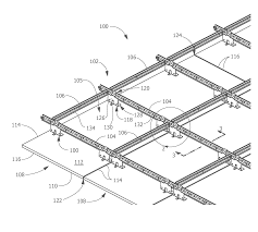 patent us20120102865 suspended ceiling system securing members