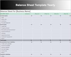 Free Balance Sheet Template Excel Balance Sheet Template Free Excel Word Documents