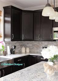 Espresso Kitchen Cabinets With Granite Kitchen Backsplash Dark Cabinets Gen4congress Com