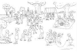 playground scene clipart 4