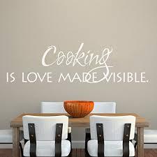 dicton cuisine cuisine cuisine sticker mural en vinyle citation mur famille
