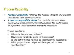 Capability Study Excel Template Quality And Spc Ppt