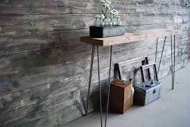 Barn Wood Sofa Table by Mid Century Modern Console Table Artenzo