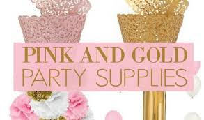 pink and gold party supplies black and gold party ideas sweet 16 pretty pink and gold party
