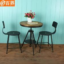Tables And Chairs Wholesale Hundred Community Continental Three Piece Iron Wood Tables And