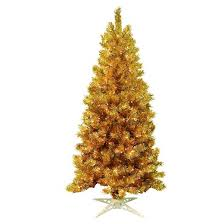 mountain king 6 pre lit artificial tree gold tinsel