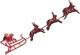 santa sleigh and reindeer oasis supply santa on sleigh with reindeer christmas