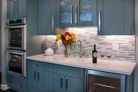 Brookhaven Kitchen Cabinets Brookhaven Cabinet With Wine Fridge Home Bar Transitional And San