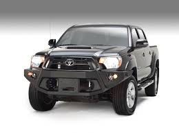 toyota tacoma front bumper guard fabfour winch mount front bumper for 2012 2015 tacoma