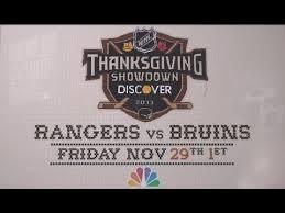 nhl on nbc thanksgiving showdown a farrelly thanksgiving