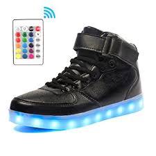 led light up shoes amazon com voovix kids led light up shoes usb charging flashing