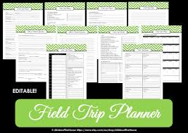 free trip planner template editable chevron printable teacher planner field trip planner teacher planner
