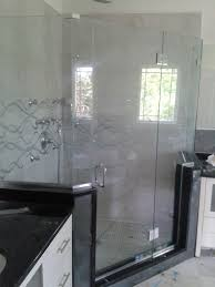 bathroom sandblasted delta shower doors shower frameless glass