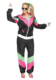 plus size halloween costumes for women 80 u0027s track suit plus size costume for women