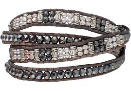 wrap bracelet images Wrapped to wear silver and black wrap bracelet pinto ranch png