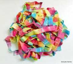 elastic ribbon by the yard bright rainbow tie dye elastic ribbon by the yard unicorn