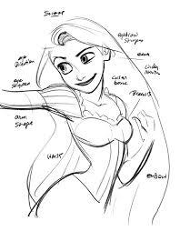 rapunzel sketch glen keane cartoons animation disney