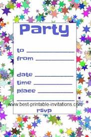 printable party invitations free printable party invitations templates cimvitation