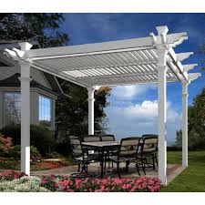 10 X 10 Pergola by New England Arbors Avalon Louvered Pergola Hayneedle