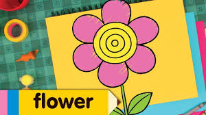 how to draw flowers simple drawing lesson for kids step by