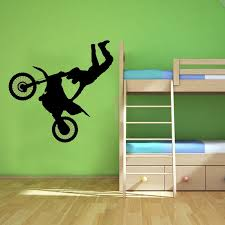 wall decals stickers home decor home furniture diy off road motorbike wall art sticker sports vinyl mural childrens decal wa497