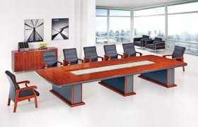 Cool Meeting Table Simple Black Painted Wooden Meeting Table Mixed White Upholstered