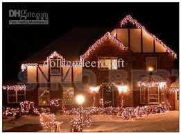 outdoor 110 led icicle lights christmas holiday fairy lighting
