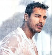 john abraham wet and smile in rain john abraham bollywood