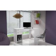 White L Desk by Manhattan Comfort Palermo White Desk 41amc6 The Home Depot