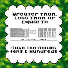 printable worksheets greater than less than or equal to base 10