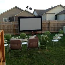 backyard movie theater set up home outdoor decoration
