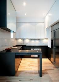 Kitchen Countertops Laminate Nice And Sleek White Kitchen Under Cupboard Lights With Black