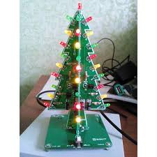 diy 3d tree kit with rgb leds 9 steps with
