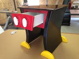 mickey mouse end table mickey mouse style nightstand or end table