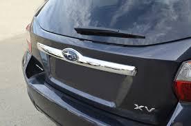 subaru crosstrek decal chrome tailgate rear door trunk lid garnish cover for subaru xv 11
