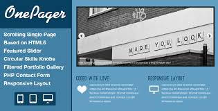 free responsive html5 one page website template onepager egrappler