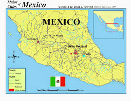 Mexico Map Cities by Landmark Gis Gis U0026 Cartography